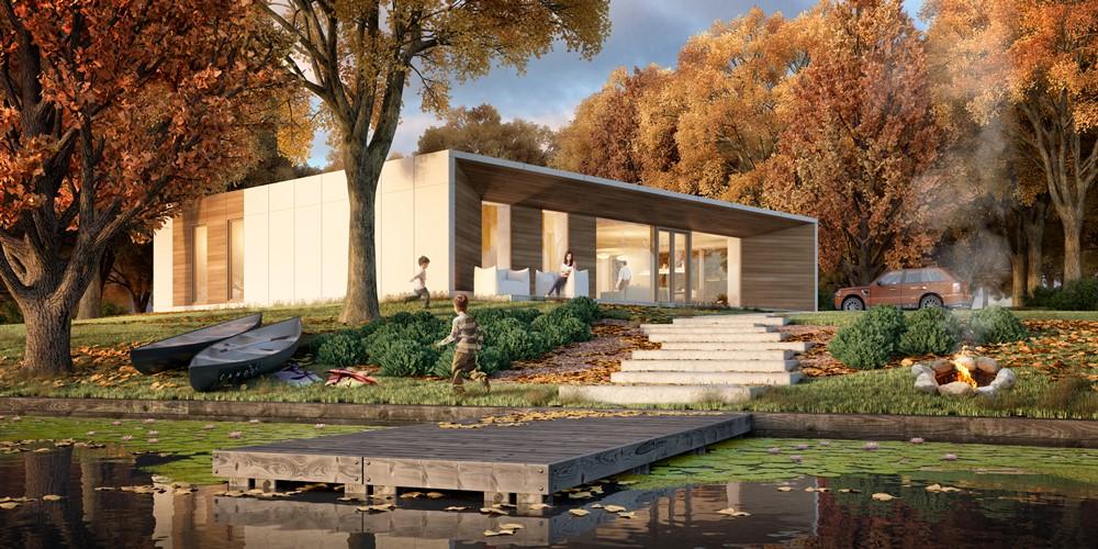 nowoczesny dom pasywny w bieli i drewnie inspiracja homesquare. Black Bedroom Furniture Sets. Home Design Ideas
