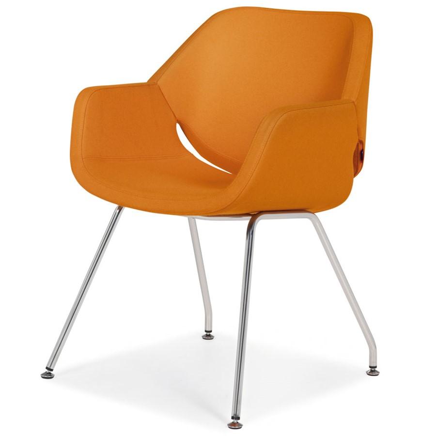 Designerskie krzesło Gap Artifort pomarańczowe