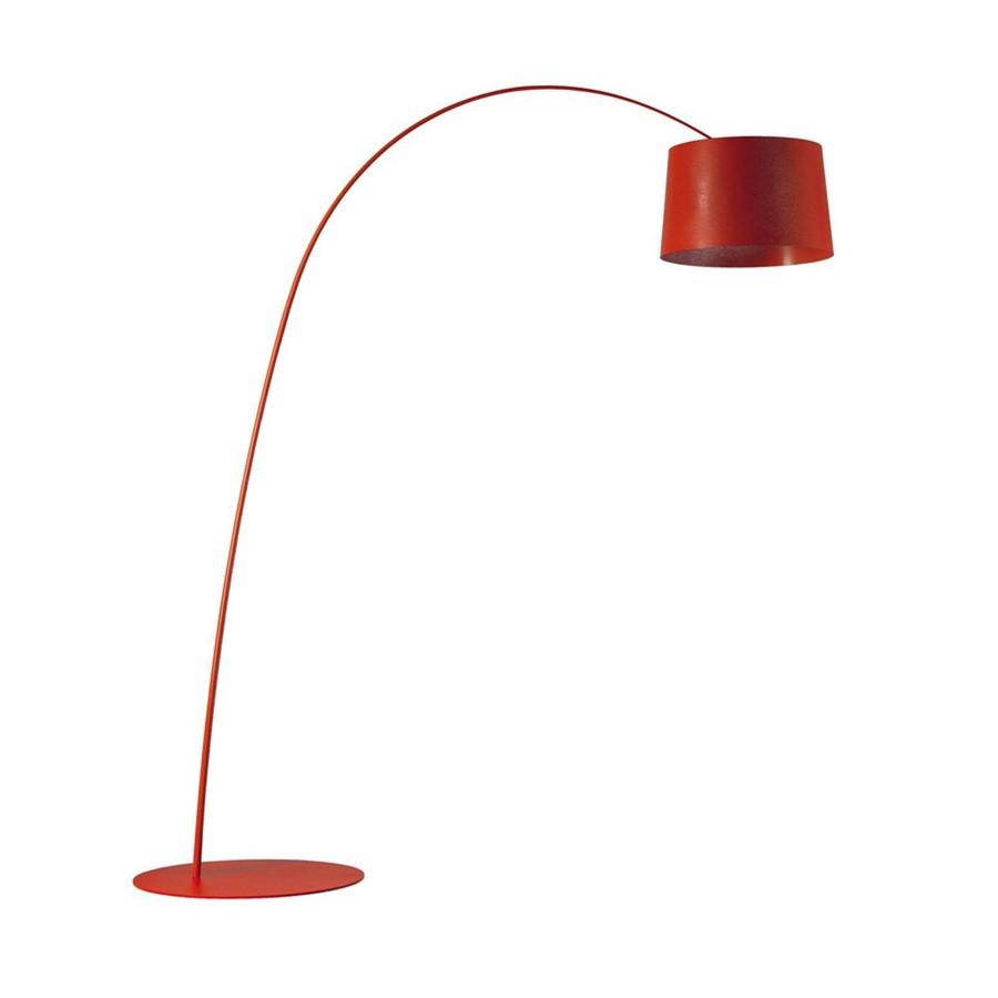 Lampa podłogowa Twiggy czerwona Foscarini