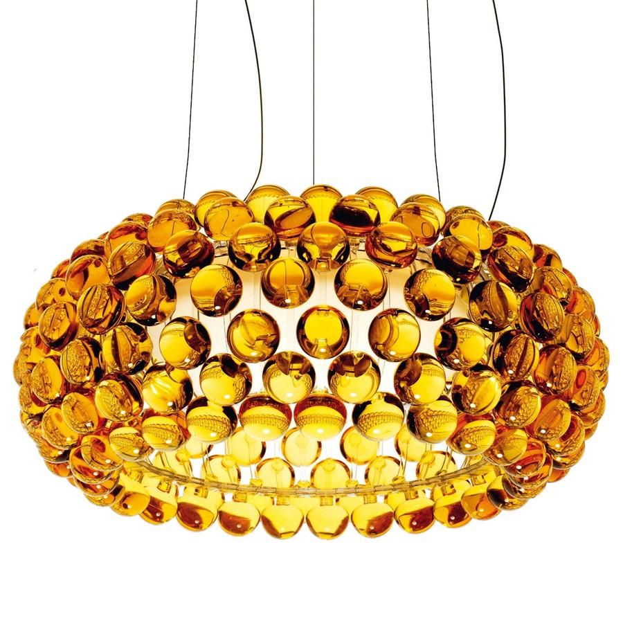 Lampa wisząca Caboche M Żółta Foscarini
