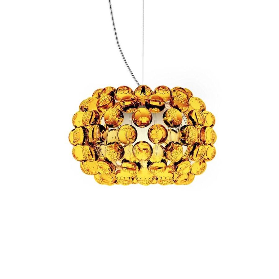 Lampa wisząca Caboche S Żółta Foscarini