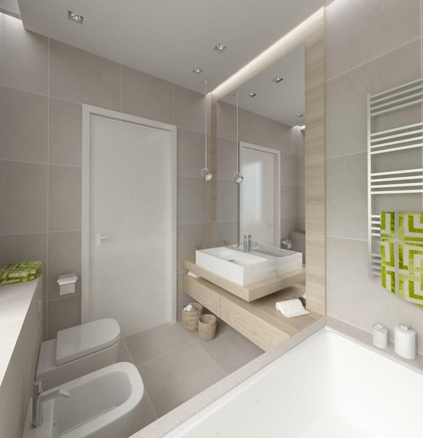 Dunkle fliesen wohnzimmer modern
