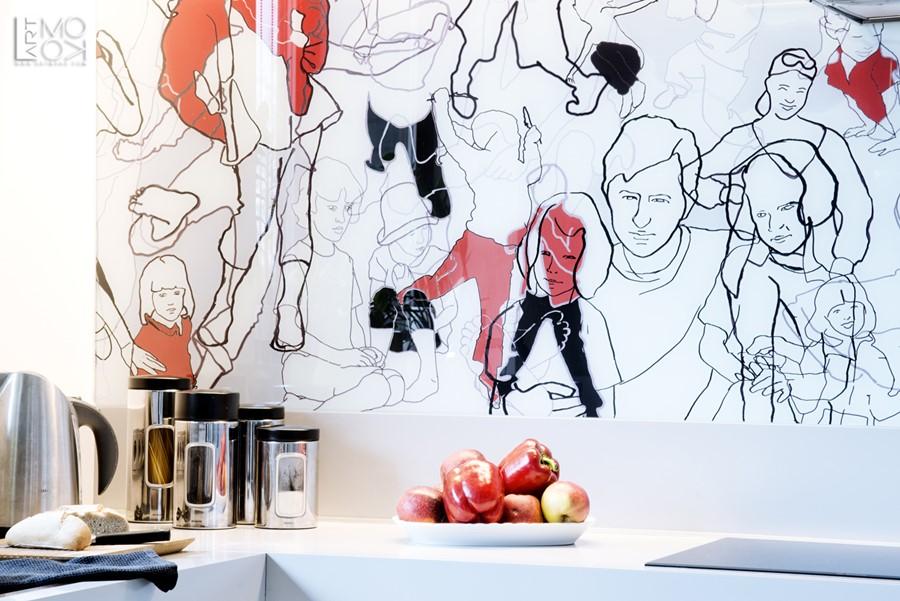 Nowoczesna grafika do kuchni na ścianę