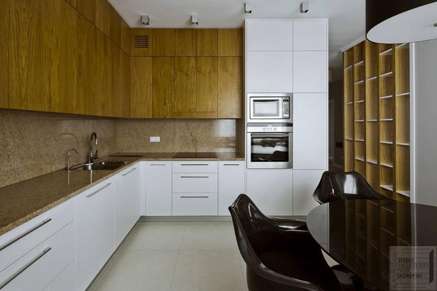 Nowoczesna Kuchnia W Bieli I Drewnie Inspiracja Homesquare