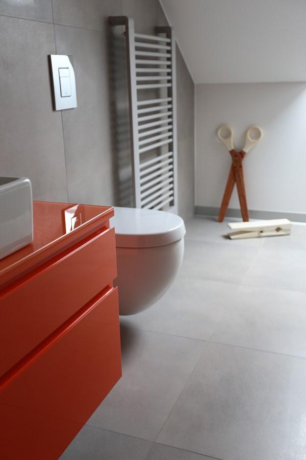 Oranż w nowoczesnej łazience