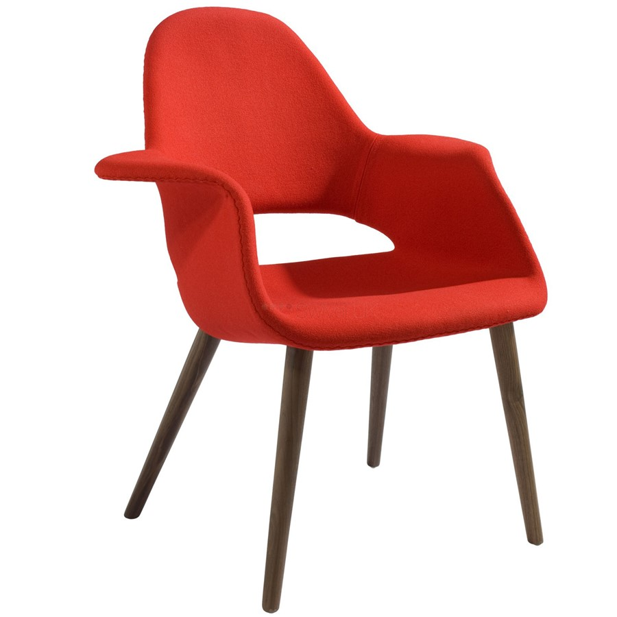 Krzesło Organic Chair czerwone Vitra