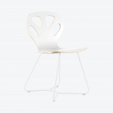 Designerskie krzesło Maple Iker białe