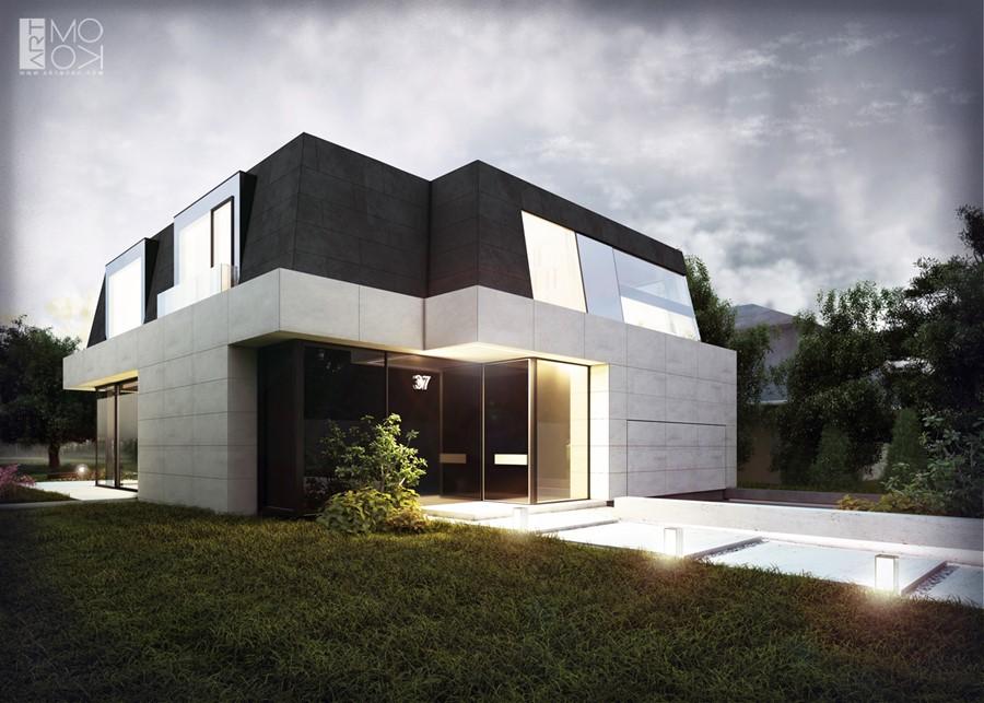 Projekt piętrowego domu w nowoczesnym stylu