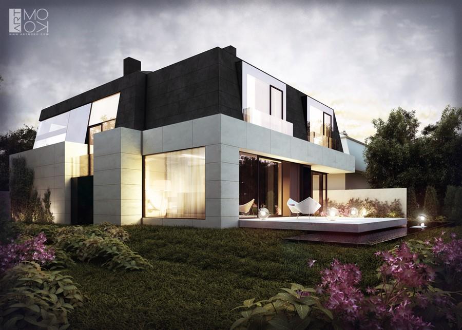 Projekt nowoczesnego domu piętrowego