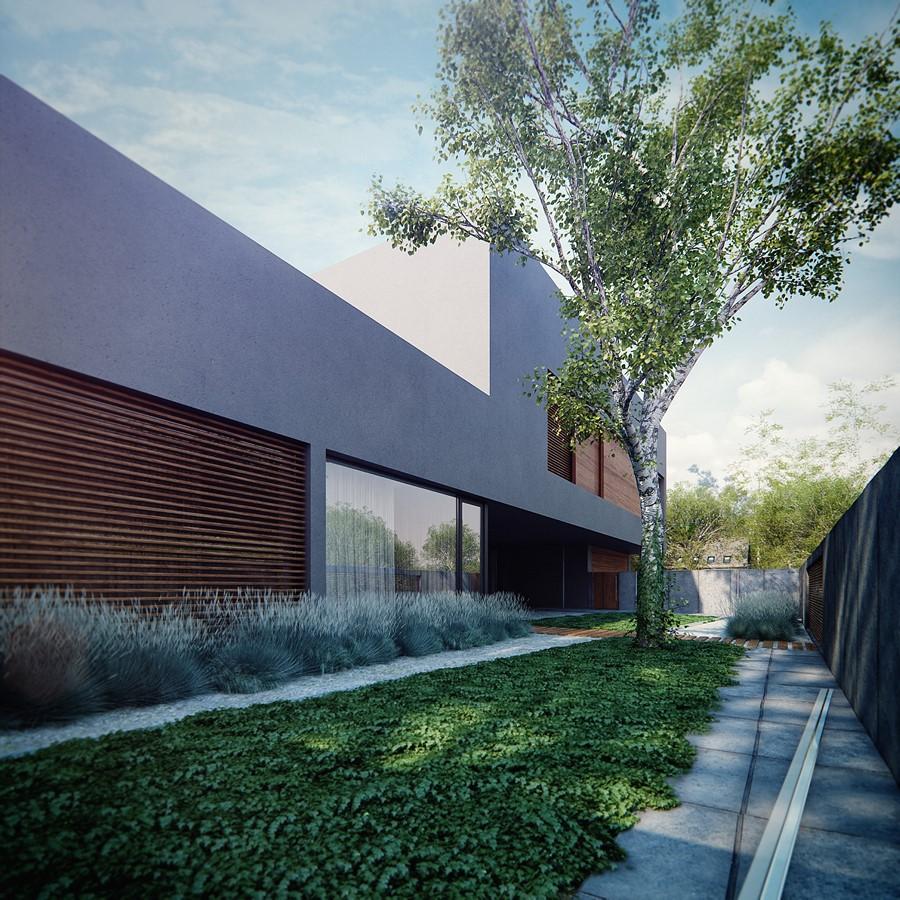 Projekt nowoczesnego ogrodu w industrialnym stylu