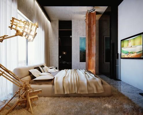 Projekt Nowoczesnej Sypialni W Kolorach Ziemi Inspiracja