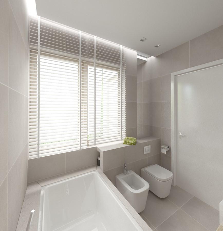 Popielata łazienka Z Wanną Inspiracja Homesquare