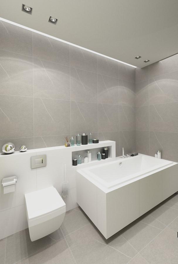 Szare kafelki do łazienki w nowoczesnym stylu