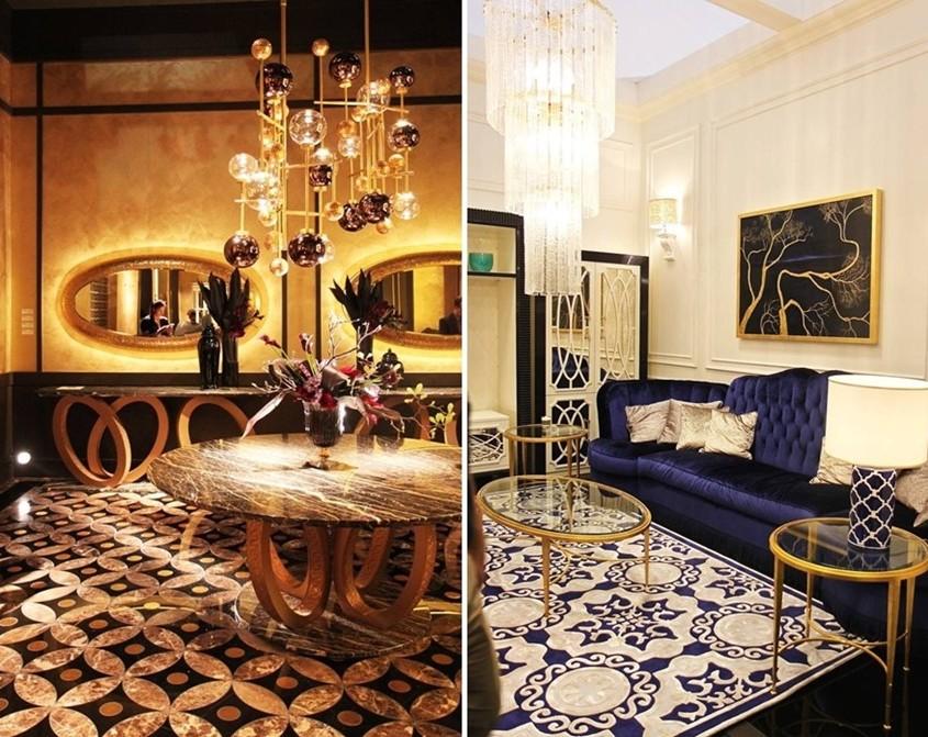 nowoczesne oświetlenie i geometria art deco w luksusowym połączeniu