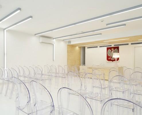 Aranżacja nowoczesnej sali ślubnej pracowni RS +