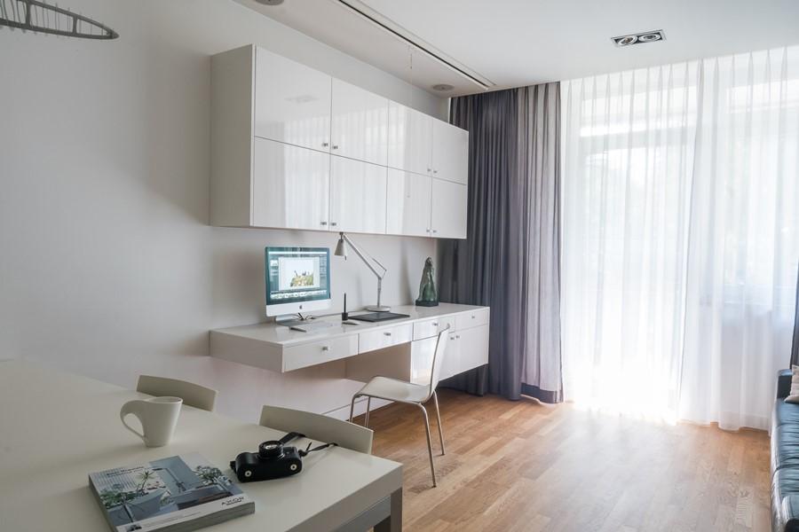 Aranżacja mieszkania w bieli - Architektura, wnętrza, technologia, design - HomeSquare