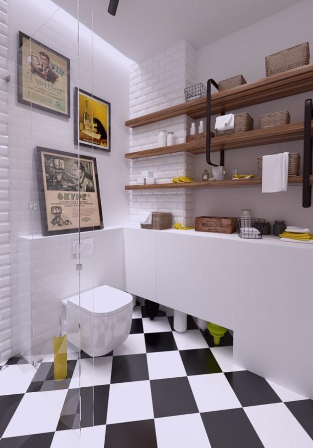Eklektyczna łazienka Z Prysznicem Inspiracja Homesquare