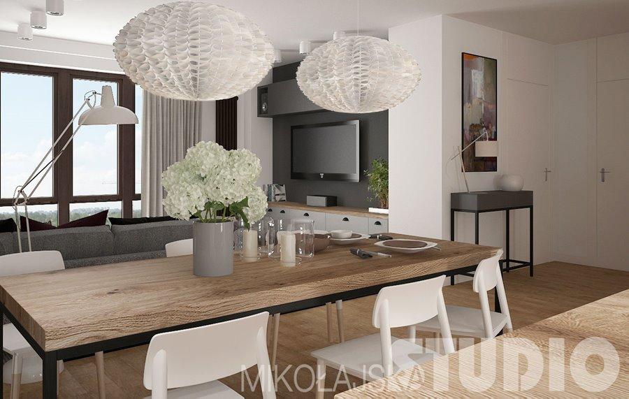 Salon Połączony Z Kuchnią I Jadalnią Na Piętrze Inspiracja