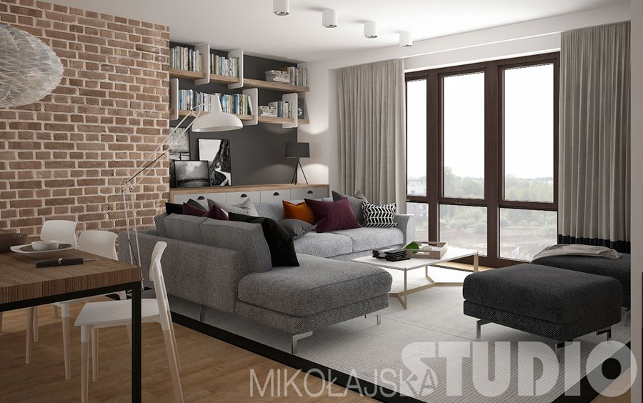 salon po czony z kuchni i jadalni na pi trze. Black Bedroom Furniture Sets. Home Design Ideas