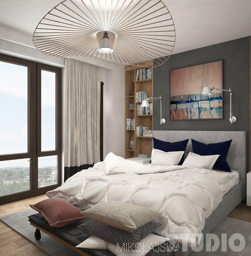 Projekt nowoczesnej sypialni - Architektura, wnętrza, technologia, design - HomeSquare