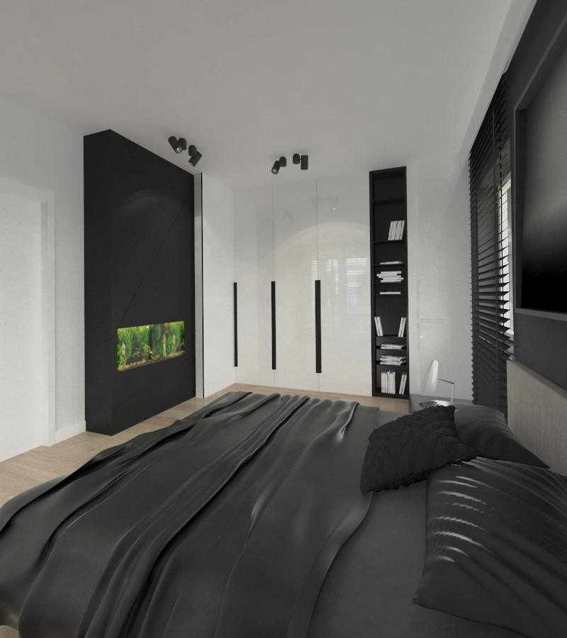 Projekt minimalistycznej sypialni - Architektura, wnętrza, technologia, design - HomeSquare