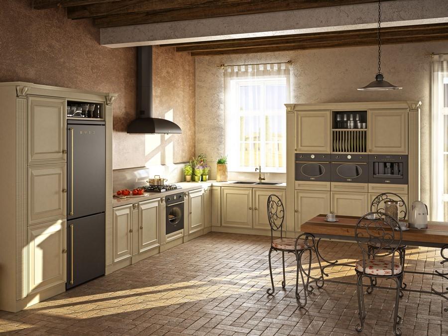 Aranżacja kuchni w klasycznym stylu Smeg Coloniale