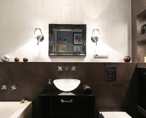 Eklektyczna łazienka z wanną JN Studio