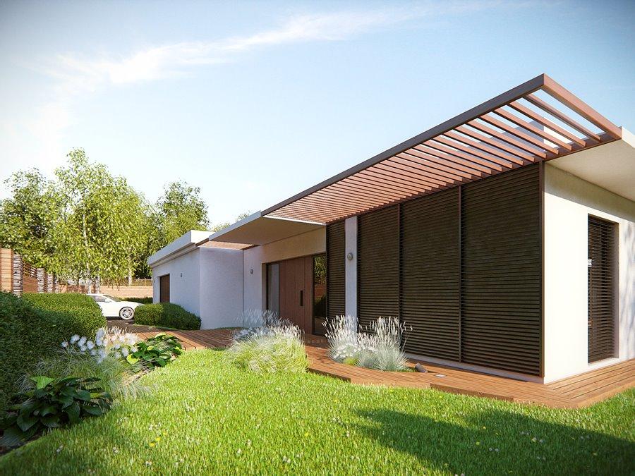 Elewacja zewnętrzna z drewna styl nowoczesny