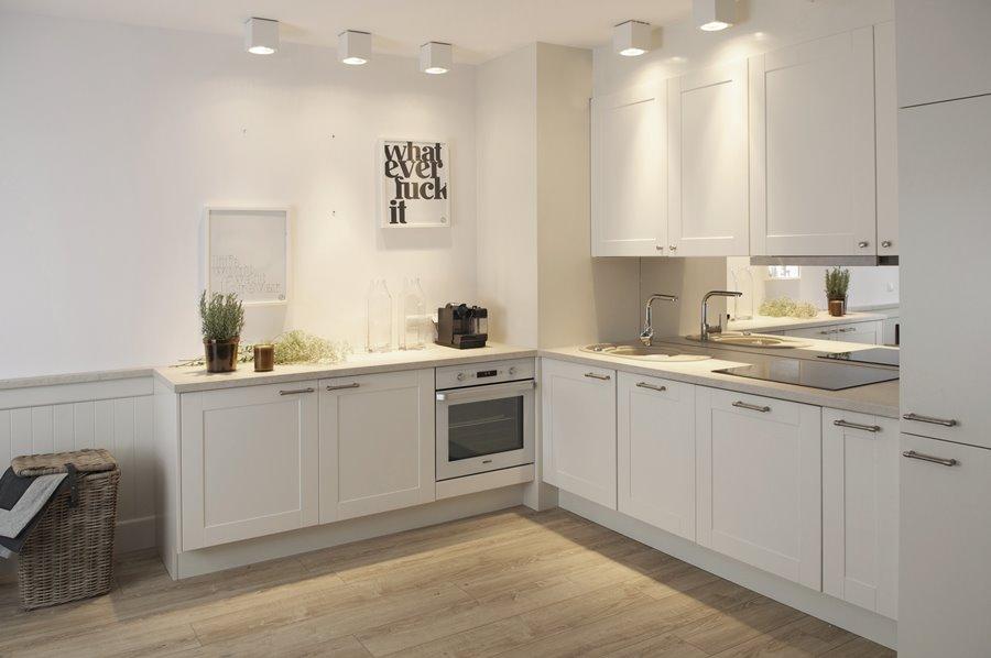 Aranżacja biało szarego wnętrza  Architektura, wnętrza, technologia, design   -> Kuchnia Z Jadalnią Styl Skandynawski