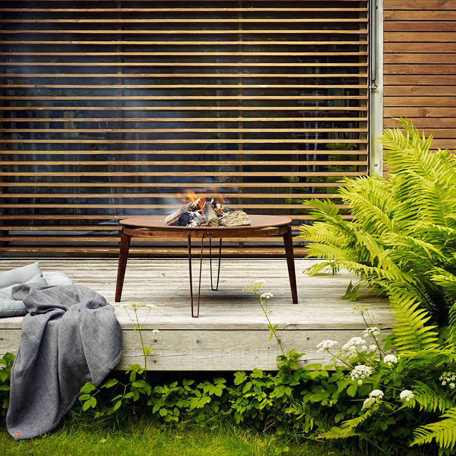 Małe palenisko na taras - wymarzony ogród meble i dekoracje ogrodowe