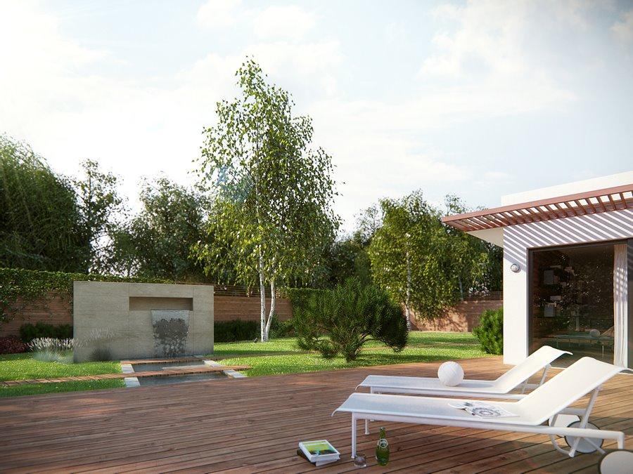Nowoczesna kaskada w ogrodzie pomysły na ogród