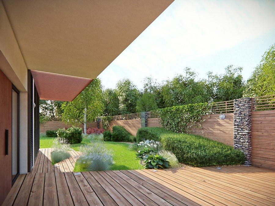 Nowoczesny ogród przy domu projekt