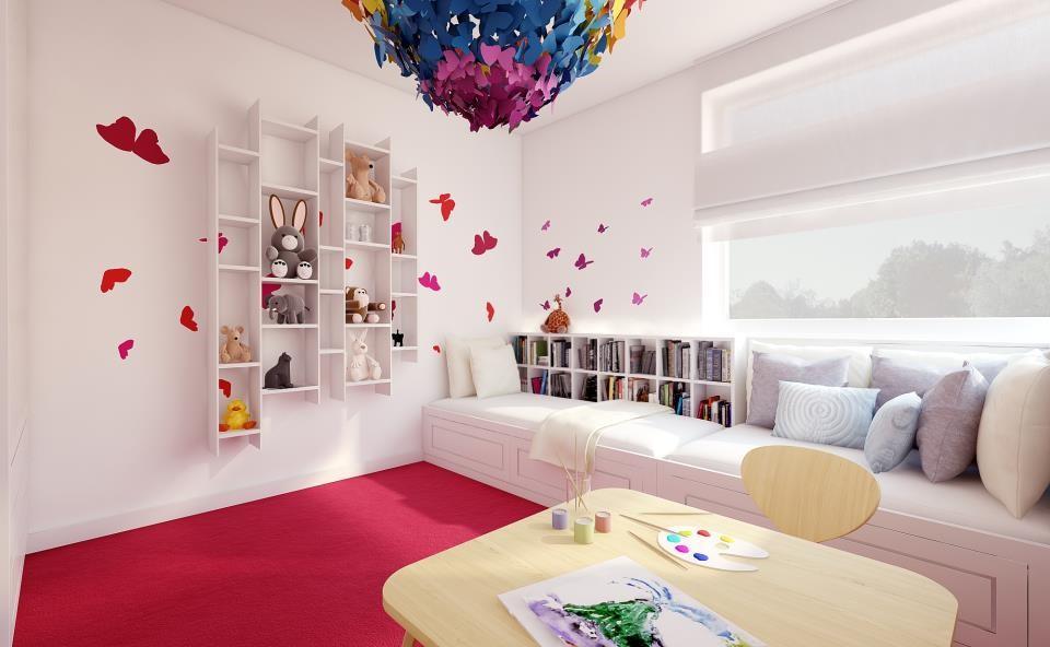 Pokój dziewczynki w motyle - pokoje dla dzieci