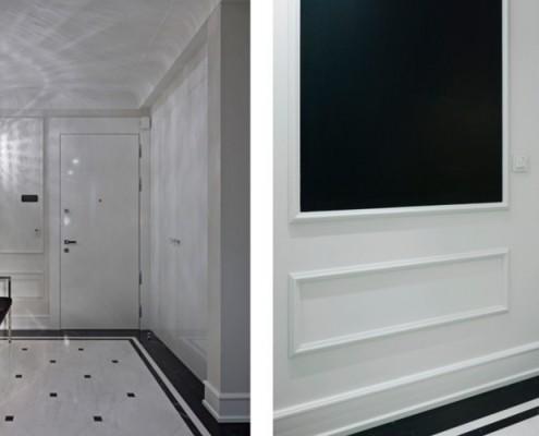 Biało-czarny przedpokój w stylu modern classic meble BBhome