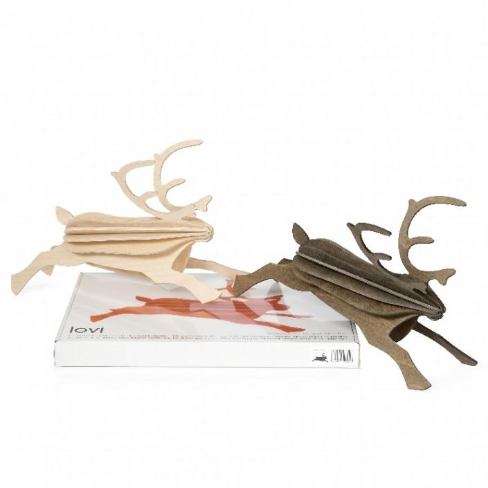 Bożonarodzeniowa pocztówka renifer Reindeer 30cm Lovi świateczne dekoracje