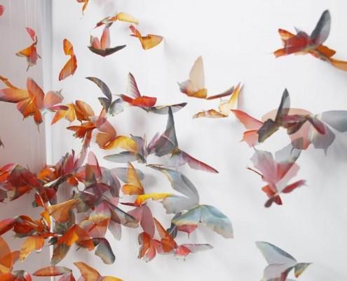 Dekoracje ścienne ze stali nierdzewnej motyle Michelle McKinney