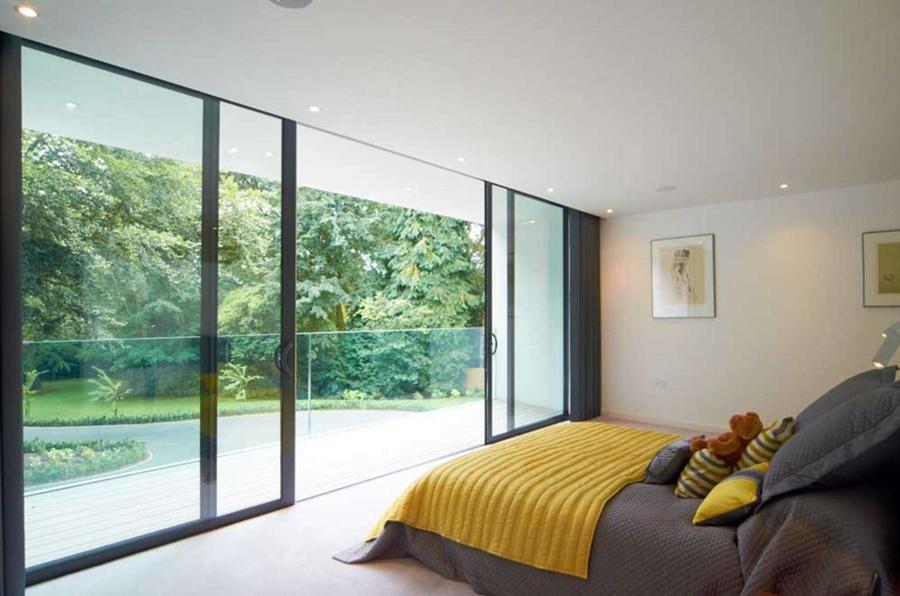 Dom w bieli Western Design Architects sypialnia