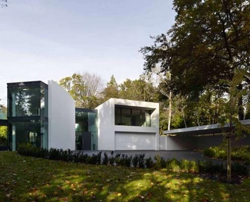 Dom w bieli Western Design Architects styl nowoczesny