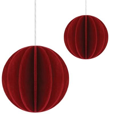 Kartka Pocztówka bożonarodzeniowa z drewna Ball L 6cm Lovi