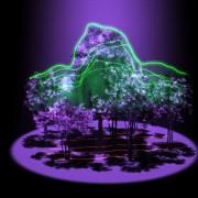 trójwymiarowy obraz drzew uzyskany dzięki systemowi G-LiHT opracowanemu w centrum Goddard'a / NASA