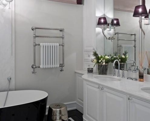 Nowoczesna klasyka w przestronnej łazience BBhome aranzacje wnętrz