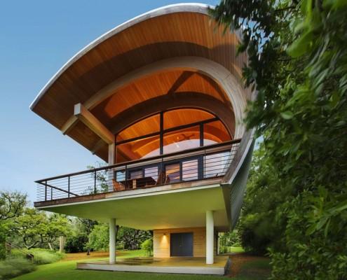 Nowoczesny dom gościnny Casey Key Guest House Nowoczesny dom w drewnie