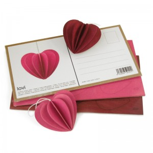 Lovi Heart, 6,8cm dark red
