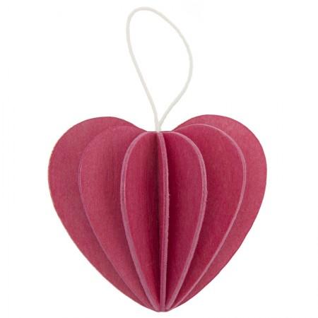 Oryginalna pocztówka walentynkowa Heart 6,8cm Lovi pink