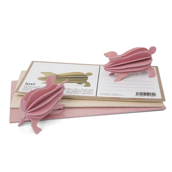 Pocztówka do składania świnka Possu 9,5cm Lovi pocztówka świnka