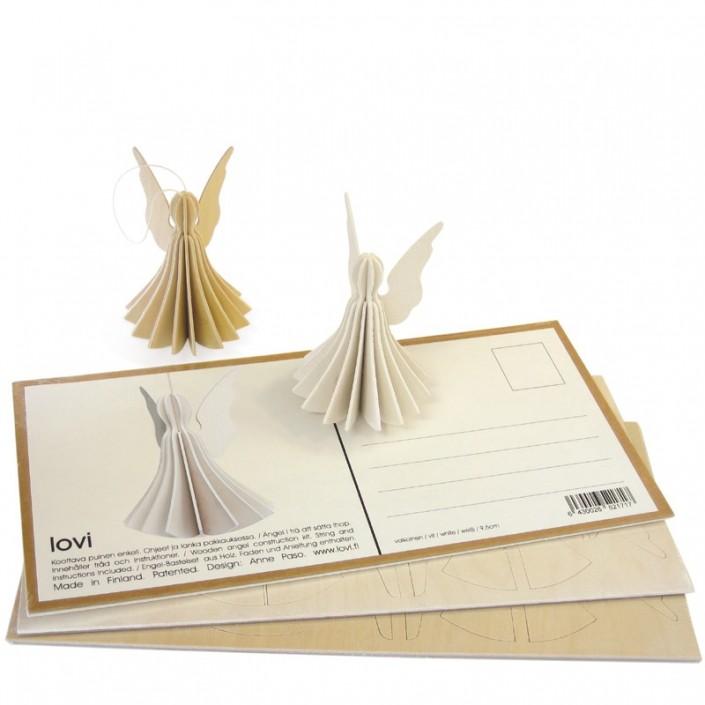 Pocztówka do składania Angel 9cm Lovi oryginalna pocztówka bożonarodzeniowa