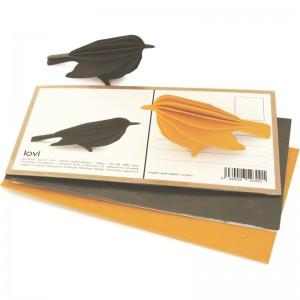 Pocztówka ptak do składania Lintu 12,5cm Lovi