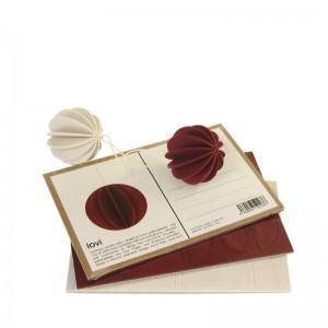 Pocztówka z drewna Ball S 4cm Lovi Bombka świąteczna