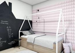 Aranżacja pokoju dla dziewczynki A2 studio