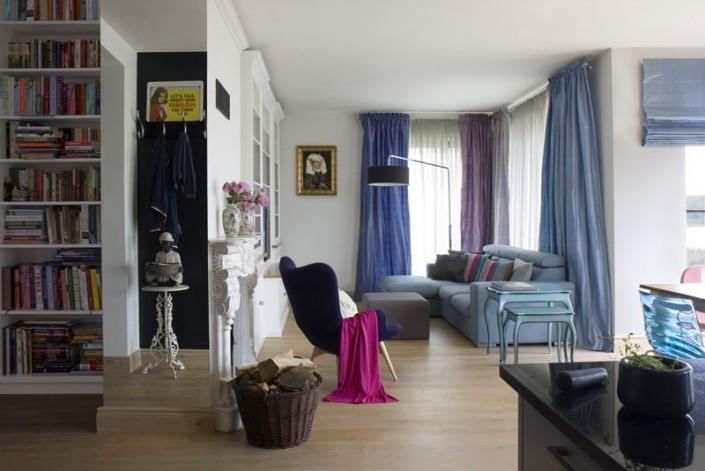 Przytulny salon - eklektyczne wnętrze